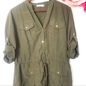 Calvin Klein blouse button down green size M